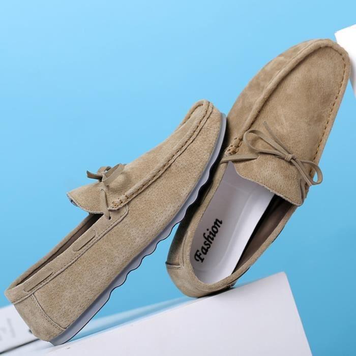 Suede Chaussures Hommes Mocassins Casual conduite Mode zw1qxT1EC
