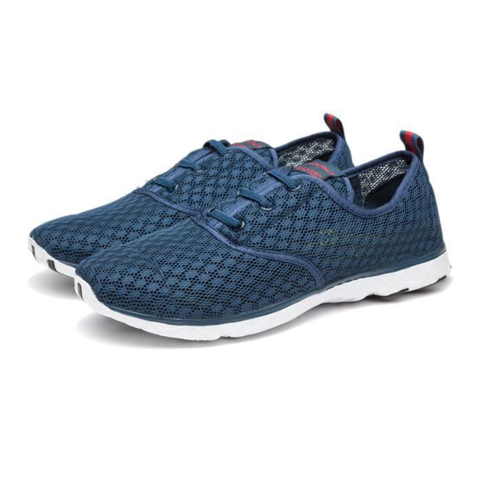 Chaussure Homme Été Qualité Supérieure Nouveau Classique Maille Respirant Athletic Léger Confortable Taille 44