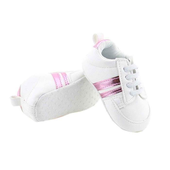 Bébé Chaussures Nouveau-né enfant baskets Garçon filles en cuir PU Sneaker Violet 12cm 8Qpbgg5