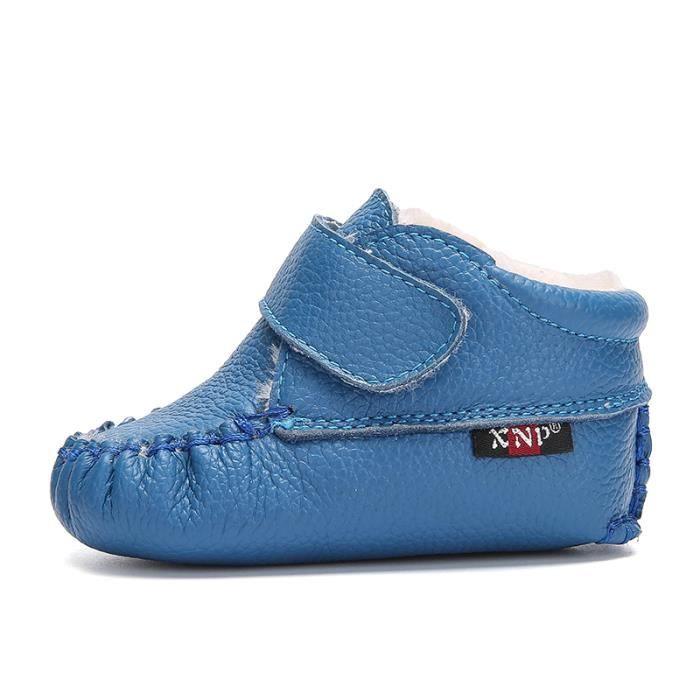 Bottes bébé PU Cuir De Neige Hiver Garçons Filles Casual Mode Enfants Chaussures TYS-XZ157Bleu16
