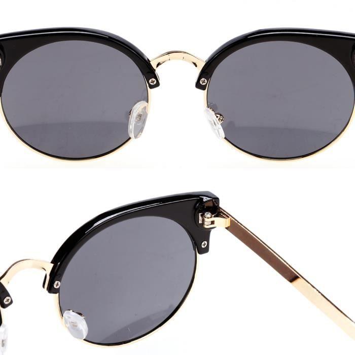 Aoligei Lunettes de soleil lunettes de soleil rétro rond cadre soleil lunettes hommes et femmes générales ombre miroir DaJhi