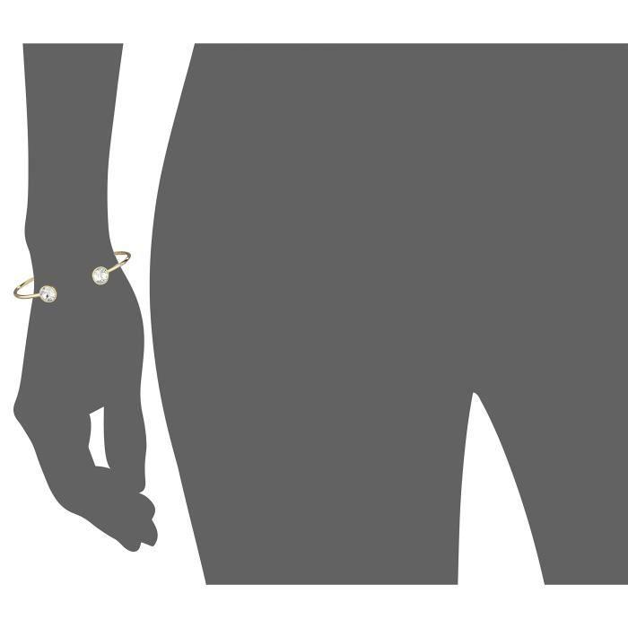 14k Gold-plated Swarovski Bangle Bracelet RX4WQ