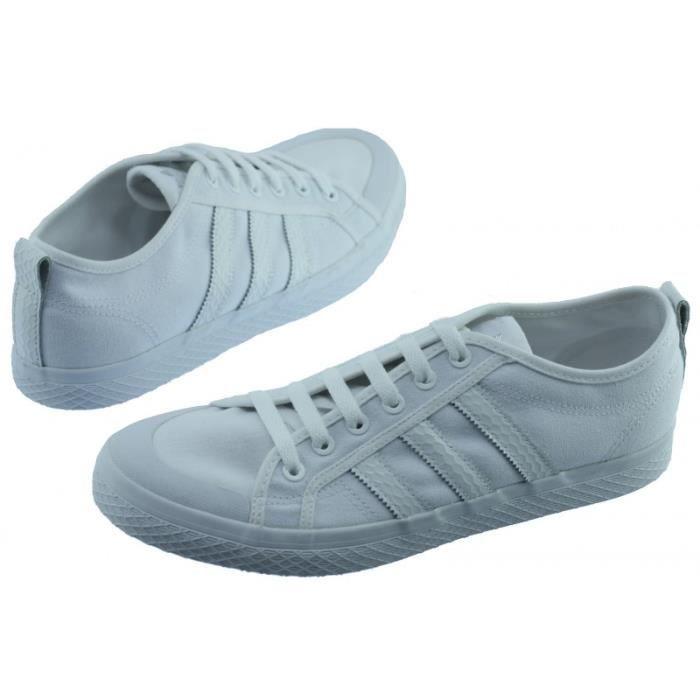 HONEY LOW W - Tennis à lacet marque Adidas chaussures urban sportswear en toile blanche