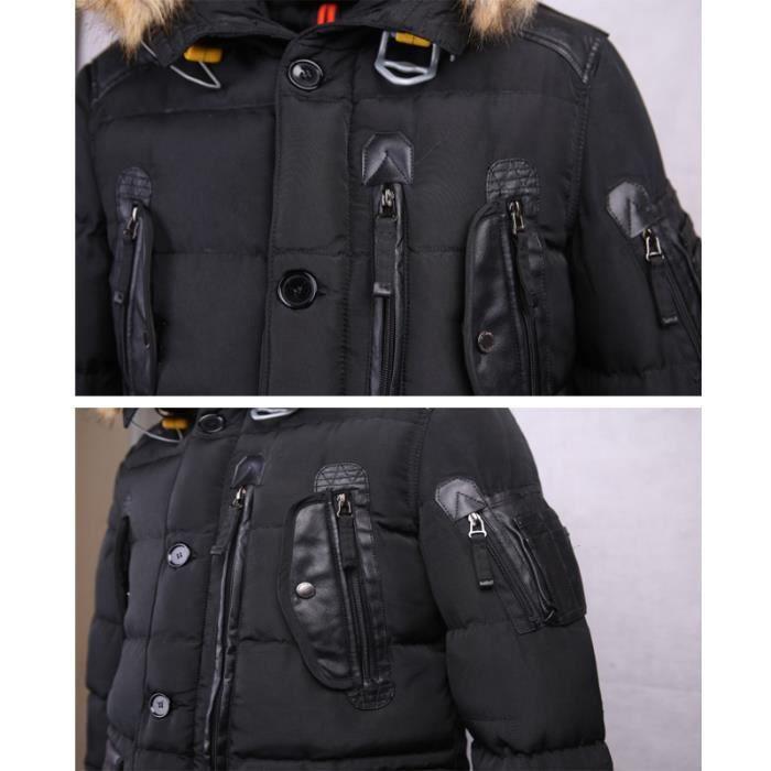 Masculin Amovible noir Vêtement gris Multi Capuchon marron À Noir Artificielle Fourrure Homme Col En poches vert Doudoune Hommes bleu q7R0wOn