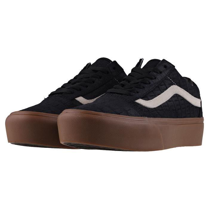 Vans Old Skool Platform Femmes Baskets Gomme Noire - 5 UK rySuT