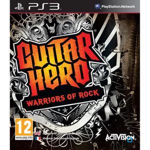 JEU PS3 GUITAR HERO : Warriors of Rock / Jeu console PS3