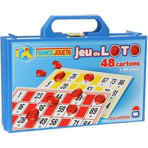 Dujardin - L'indémodable jeu de Loto 48 cartons - Le loto est un jeu de société basé sur le hasard. Soit le premier ? remplir une carte avec les numéros tirés - 2 joueurs ou plus - Mixte - A partir de 6 ans - Livré ? l'unité