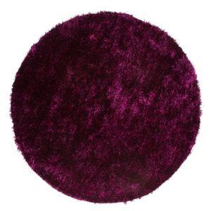 TAPIS CRYSTAL Tapis de salon Shaggy 200x200 cm violet et
