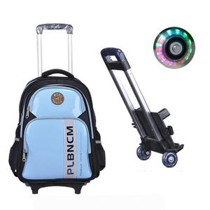 SAC À DOS Cartable à Roulettes Double roue Trolley Bag Sac à