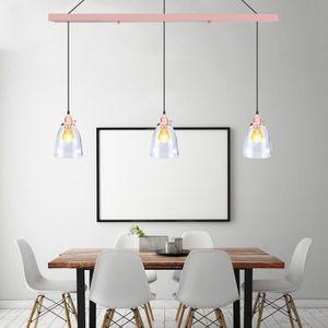 LUSTRE ET SUSPENSION Moderne Lustre En Verre 3 Têtes Pendentif Lampe Po. U2039u203a