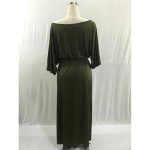 499e524a4a5bc3 Robe longue turquoise - Achat / Vente pas cher