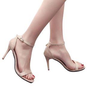 SANDALE - NU-PIEDS Mode Femmes pour femmes Sandales cheville Talons B