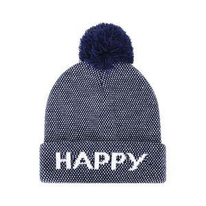 325fc81c3267b BONNET - CAGOULE Bonnet à pompon homme - Happy - Bleu