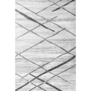 TAPIS A2Z Tapis Salvador 9957 Blanc & Gris 120x170 cm