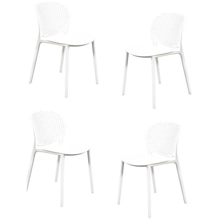 VICKY Chaise en résine - Blanc