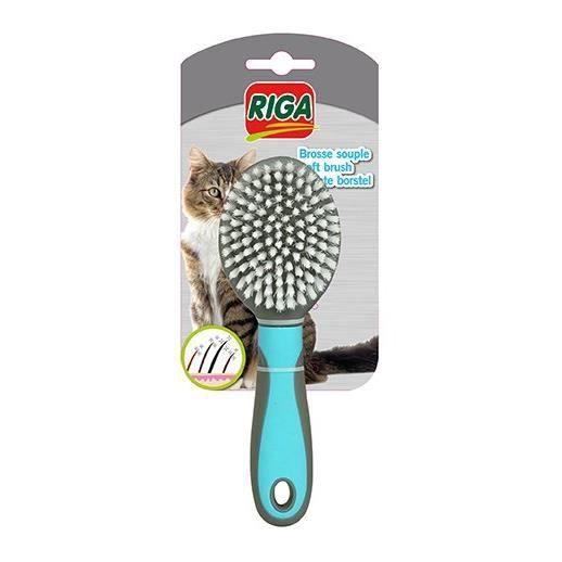 RIGA PM Brosse pour chat - Souple - Coloris assortis