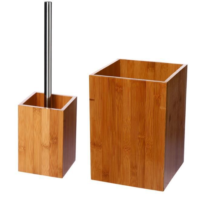 Lot accessoires salle de bain BAMBOU - Achat / Vente set accessoires ...