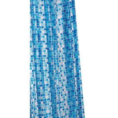 Croydex Rideau De Douche En Pvc Mosaique Bleue Achat Vente