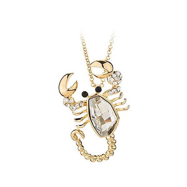 Pendentif de homard belle avec Swarovski blanche élément cristal et colliers (20793)