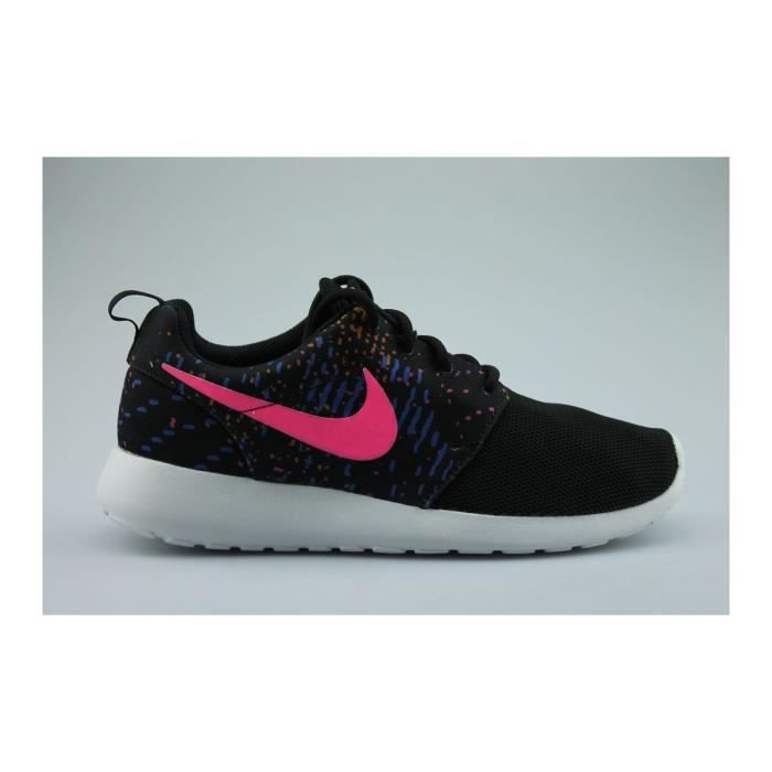Wmns Nike Roshe One Print Noir Rose