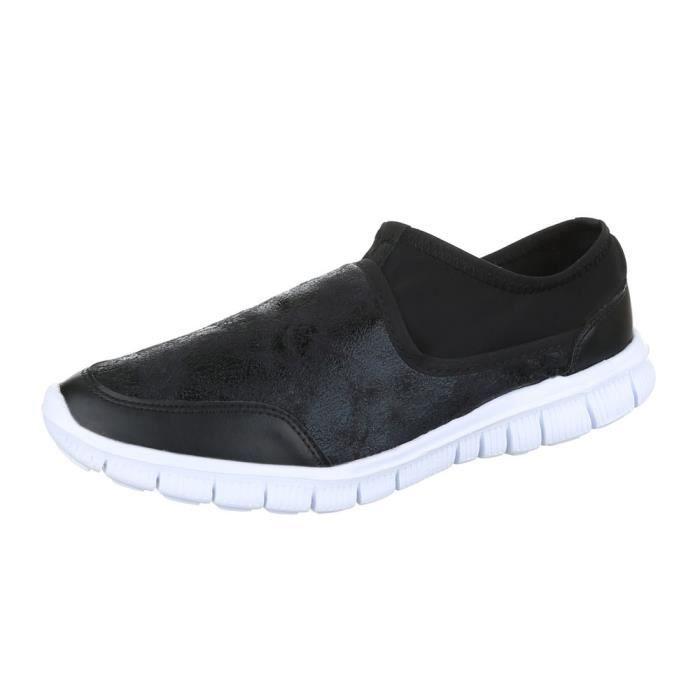 femme chaussure basse chaussure mocassin noir