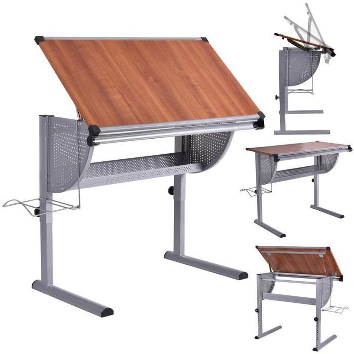 table à dessin inclinable table de rédaction hauteur et angle
