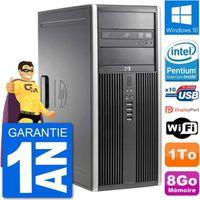 UNITÉ CENTRALE + ÉCRAN PC Tour HP 8200 Intel G630 RAM 8Go Disque Dur 1To