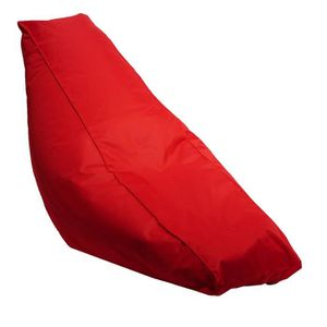 Pouf 65% polyester et 35% coton de coloris rouge. Rev?tement : toile 100% polyester 600D envers enduit PVC. Une poignée de portage. Garnissage : granules de polystyr?ne. Non déhoussable. Dimensions : 165x40/65 cm. Intérieur et extérieur.