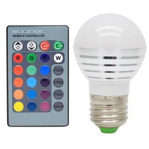 AMPOULE - LED E27 3W RGB Ampoules LED Multicolore LED 16 Changem