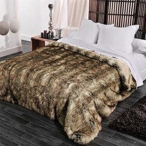couvre lit fourrure achat vente couvre lit fourrure. Black Bedroom Furniture Sets. Home Design Ideas