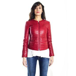 Veste en cuir femme moins de 100 euros