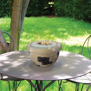 CHEMINÉE Caliope, une cheminée de table en terre cuite, trè
