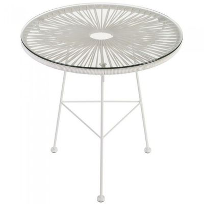 Table basse ronde Iris blanche Couleur Blanc Ma… - Achat ...