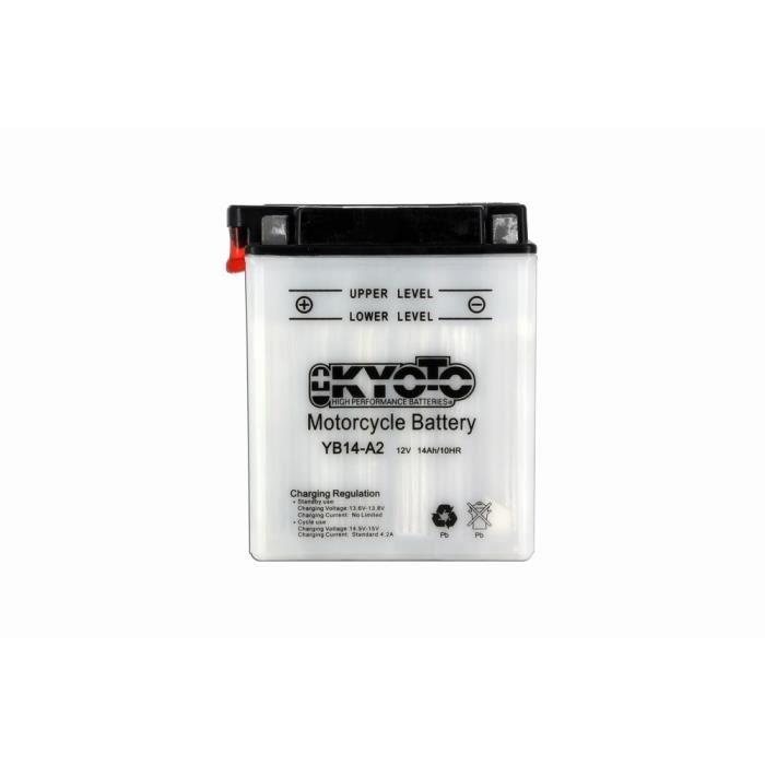 KYOTO - BATTERIE - Yb14-a2 - L 135mm W 91mm H 167mm Batterie Kyoto pour Moto & Quad.BATTERIE VEHICULE