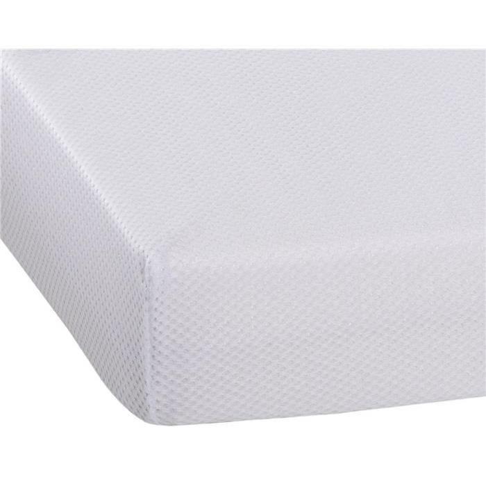 aerosleep drap housse 90x200 blanc achat vente drap housse matelas 5413421000149 cdiscount. Black Bedroom Furniture Sets. Home Design Ideas