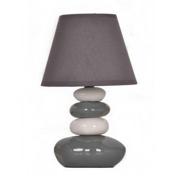 lampe de table galets gris et blanc achat vente lampe de table galets gris cdiscount. Black Bedroom Furniture Sets. Home Design Ideas