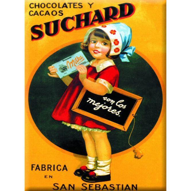 plaque metal 20x15cm pub retro chocolat suchard achat. Black Bedroom Furniture Sets. Home Design Ideas