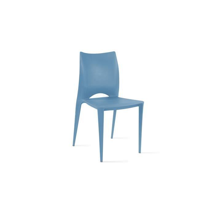 chaise de jardin en plastique bleu achat vente pas cher. Black Bedroom Furniture Sets. Home Design Ideas