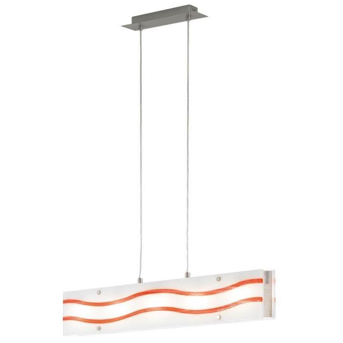 À Salle Luminaire Chambre Éclairage Verre Suspension Cuisine Lustre Plafond Orange Manger uT1JcF3l5K