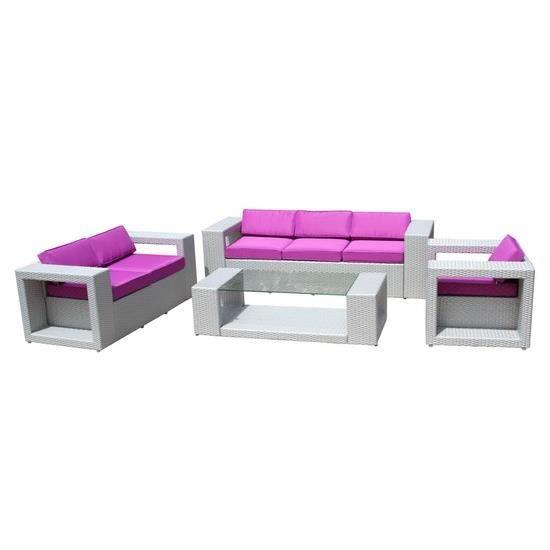 Salon De Jardin DESIGN 6 Places Coloris Gris Sideral - Achat / Vente ...