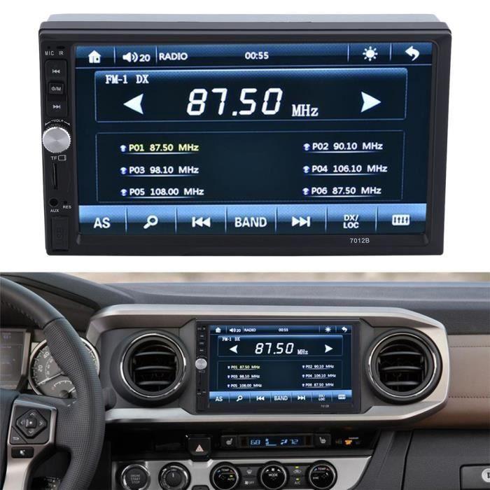 """Car Radio Player 7"""" De Hd Dans L'écran Dash Tactile Bluetooth Voiture Lecteur Fm Mp5"""