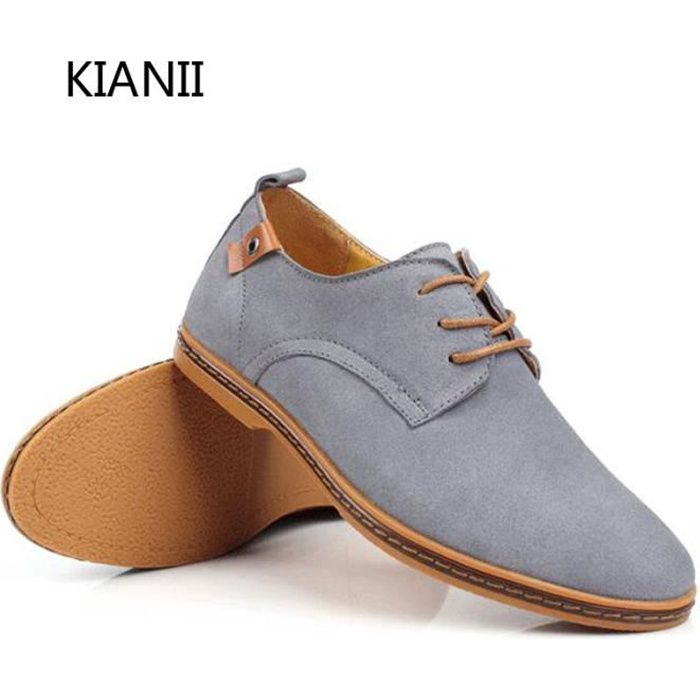 Kianii Derby Chaussures Homme Souliers simples Suede ScFvSVy0