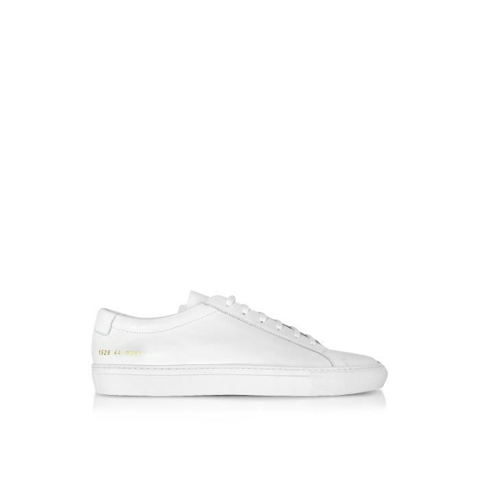 COMMON PROJECTS FEMME 38180506 BLANC CUIR BASKETS
