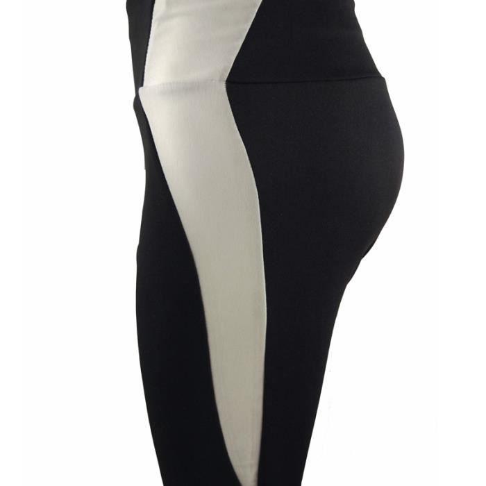Pantalon Simple noir Course Yoga Clair Amincir Femme Sport Individualité  Sexy Confortable Fitness musculation Noir Gymnastique ... 1d1845cc850