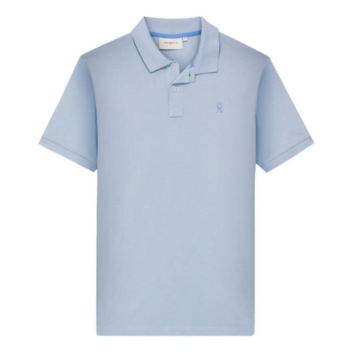 Vicomte Vente Manches Courtes A Bleu Polo Achat q1C4q