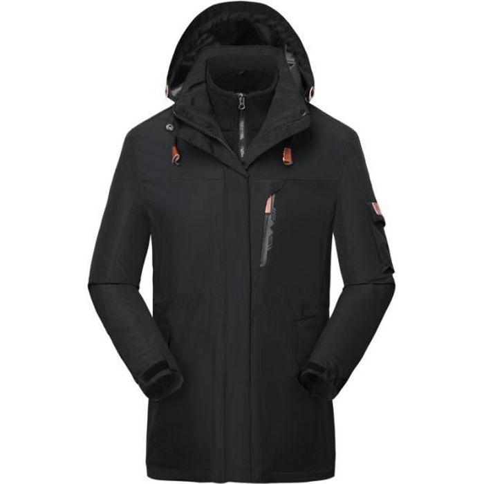 nouveau style 77746 5c5d6 Boutique Hugo-Softshell Manteau de Ski Sport Homme 3 en 1 Chaud Imperméable  Vent Randonnée Blouson de Hiver Homme avec Doublure