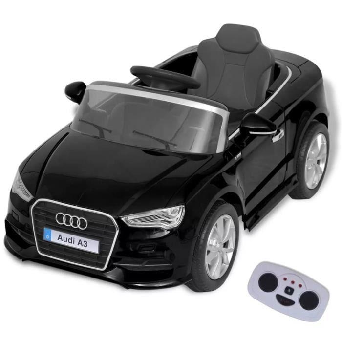 voiture électrique pour enfants télécommandée audi a3 noir - achat