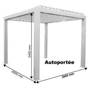Pergola 3x3 en aluminium achat vente pergola 3x3 en aluminium pas cher soldes d s le 10 - Pergola alu autoportee ...