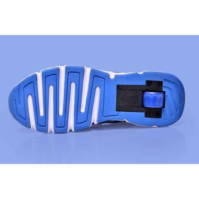 Enfant Heelys filles garçons chaussures à roulettes respirant chaussures de roues rollerskate formateurs enfants m…