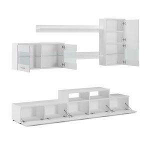 Living meuble tv achat vente living meuble tv pas cher for Ensemble meuble sejour